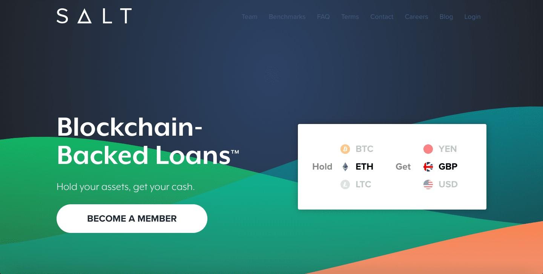 SALT Lending là một doanh nghiệp tài chính cung cấp các khoản vay được hỗ trợ bởi công nghệ blockchain