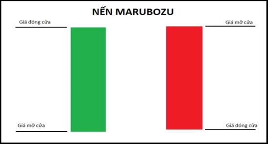 Mẫu hình nến Marubozu - Mẫu hình nến đơn thường gặp và ý nghĩa