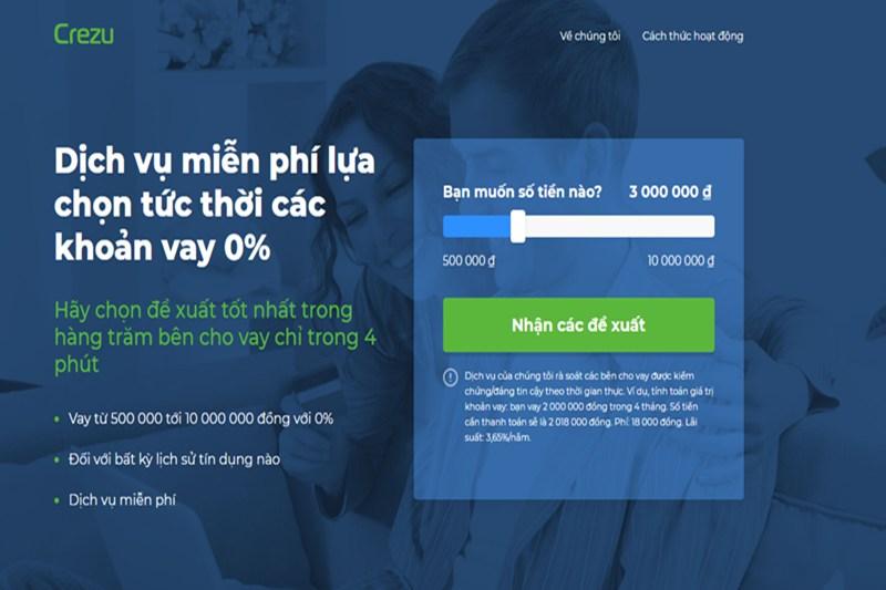 Crezu: Ứng dụng vay tiền online siêu nhanh, lãi suất siêu thấp
